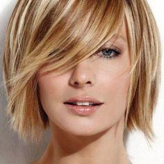 Bold blonde highlights.