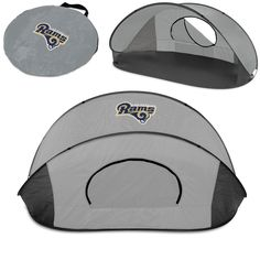 The Los Angeles Rams Manta Sun Shelter is great camping, at the beach or tailgating