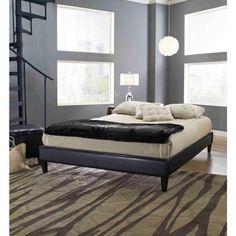 Fairview Full-Size Platform Bed Frame in Black-HCFRVPFBDBLDB - The Home Depot