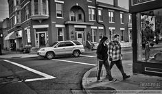 An evening stroll in Uptown Westerville - in BW