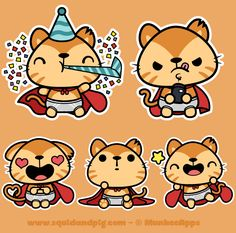 Supergato Stickers for MunkeeApps on Behance
