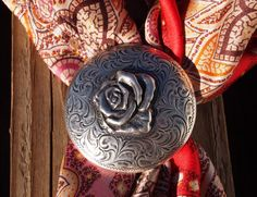 My Red Paisley Wild Rag minus the concho scarf slide