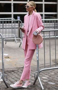 Pink Outfit Idea all pink outfit cool Pink Outfit. Here is Pink Outfit Idea for you. Pink Outfit 2019 outfits women cardi b pink outfit print t shirt womens suit shorts summer crop top . Suit Fashion, Pink Fashion, Fashion Outfits, Womens Fashion, Fashion Trends, Sneakers Fashion, Sneakers Style, Pink Sneakers, Fashion Logos