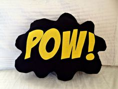 Comic Bubble Superhero Pillow, Decorative Pillow,  Batman, Room Decor, Kids Pillow, Superman, Spiderman, Wonder Woman