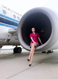 【China】 China Southern Airlines cabin crew / 中国南方航空 客室乗務員 【中国】 China Southern Airlines, Airline Cabin Crew, Office Skirt, Jet Engine, Sexy Stockings, Flight Attendant, High Class, Have Fun, Aircraft Engine
