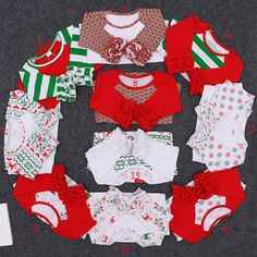 2016 Wholesale Baby Boutique Clothing Christmas Icing Raglans Top T shirt Girl Ruffle Raglan Girl Clothes Fall Cotton Toddler