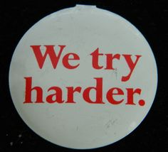 Vintage Avis We Try Harder Features Plymouth Pin by COLLECTORSCENTER on Etsy