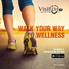 Walk your path of wellness by downloading the Visitdr app, makes you just a click away from your specialist.  #VisitDr #MedicalApp #Specialist #Click