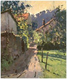 Impressionist Landscape, Watercolor Landscape, Landscape Art, Landscape Paintings, Oil Painting Supplies, Building Painting, Great Paintings, Contemporary Landscape, Art Plastique