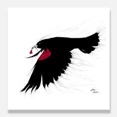 Bird Prints, Black Bird Art, Red Wing Black #art #painting @EtsyMktgTool http://etsy.me/2vD0HrF