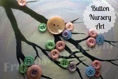 Frugal Mom Eh!: Button Tree Nursery Art Tutorial