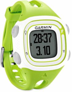 The affordable Garmin Forerunner 10 GPS fitness monitor—style, performance and user-friendly function.