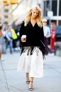 See How Kate Davidson Hudson Styles A Fringed Cape Top