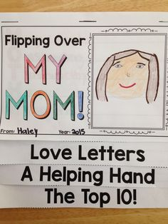 ON SALE TODAY: SAVE 30%. This NO PREP flip-book project is just like the others in my store except this one isn't a biography... it's a special gift from the children to their mothers. (2 Versions in the Download) #mothersday $