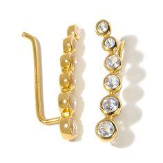 AV Galerie Graduated Moonstone Crawler Earrings