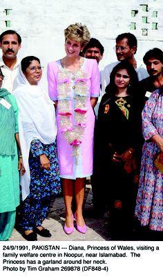 Princess Diana in pakistan 1991