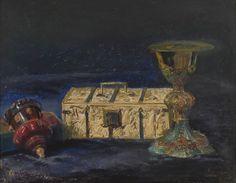 Kielich biskupa Maciejowskiego, tzw skrzyneczka królowej Jadwigi i pucharek roboty króla Zygmunta III - Leon Wyczółkowski