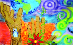 Voices & Visions 2014 Artwork by youth at The Home for Little Wanderers #VVArt14 #WorldPeace