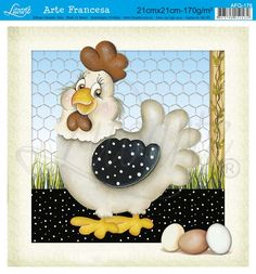 Decoupage Vintage, China Painting, Tole Painting, Wood Crafts, Diy And Crafts, Cartoon Chicken, Wood Craft Patterns, Country Paintings, Applique Quilts