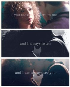 """""""How did you do that? I'm not really here...."""" The Doctor and River Song.  Doctor Who."""