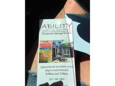 Gift Certificate for Massage from Ability Body in Motion