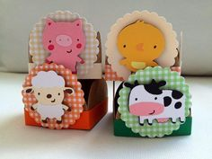 Farm Themed Party, Farm Party, Farm Birthday, 2nd Birthday Parties, Diy And Crafts, Paper Crafts, World Crafts, Origami Box, Ideas Para Fiestas