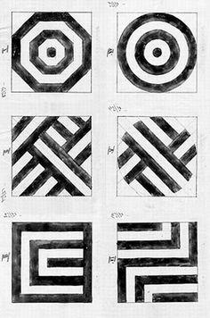 Josef Hoffmann, design for patterns | Entwürfe Flächenmuster, 1902-04.