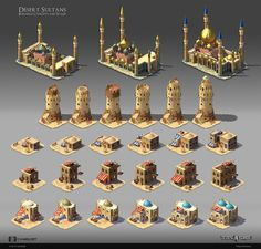 ArtStation - City Buildings: Concepts and Stages, Petya Duncheva Minecraft Blueprints, Minecraft Designs, Minecraft Creations, Fantasy Castle, Fantasy Map, Fantasy Places, Isometric Art, Isometric Design, Buildings Artwork