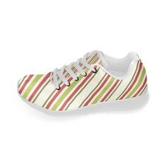 Holiday Diagonal Stripes Women's Running Shoes (Model 020)