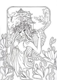 Flower Fee-lineart by mio27 @ deviantART