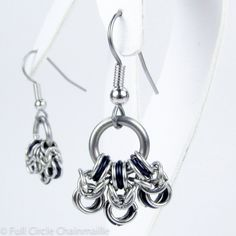 Black Byzantine - Chainmaille Earrings