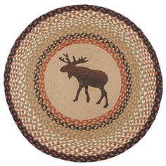 Moose Round Rug