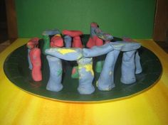 Clay Stonehenge - Around the world fun for kids.