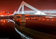 Tradeston Bridge at Night, Glasgow