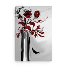Red Orchid by Rabi Khan Graphic Print on Canvas