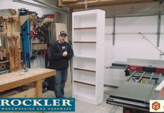 Tall Bookcase – Office Remodel part 4 - All For Remodeling İdeas Woodworking Workshop Plans, Rockler Woodworking, Woodworking Projects Diy, Diy Wood Projects, Green Woodworking, Woodworking Equipment, Woodworking Videos, Diy Picnic Table, Picnic Table Plans