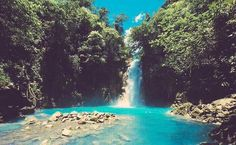 Celeste River Waterfall, Costa Rica