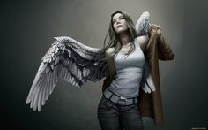 Girl in angel suit   Girls Picture   Wallpapers