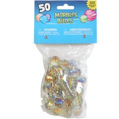 The classic game is back with these large sacks of marbles! Each pack includes 49 regular size marbles and one large shooter marble. Case includes 36 – 50-ct. bags of glass marbles.