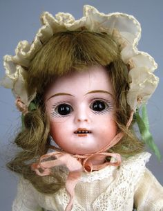 Unusual All Bisque Swivel Head German Doll ~ Possible Kestner