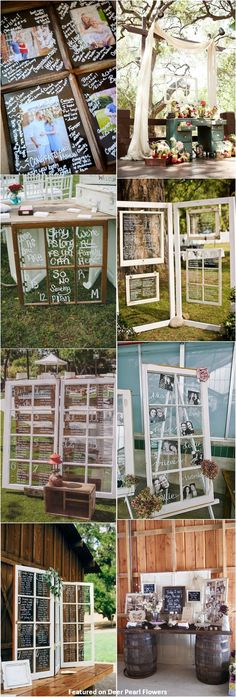 rustic window wedding decor ideas / http://www.deerpearlflowers.com/diy-window-wedding-ideas/