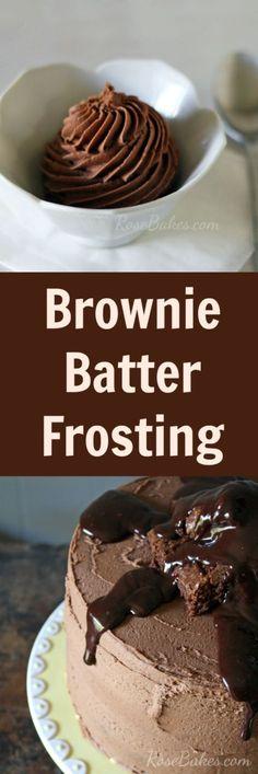 Brownie Batter Frosting: