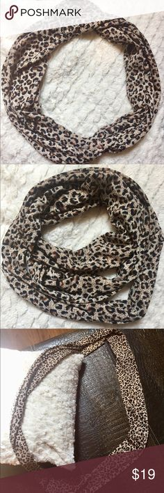Leopard Print Infinity Scarf This animal print is a must-have staple for your closet. Goes great with black, grey, burgundy, eggplant, hot pink, brown, tan, off white...etc colored tops or outfits. Use all fall season with a long sleeve top, skinnies and boots. Purchased from Francesca's. In mint condition but cleaning out my closet and would like another fashionista to put it to use! Accessories Scarves & Wraps