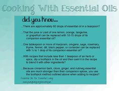 Cooking with young living essential oils