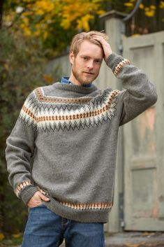 Loom Knitting, Knitting Patterns, Mens Knit Sweater, Country Attire, Knitting Projects, Knitwear, Textiles, Wool, Stitch