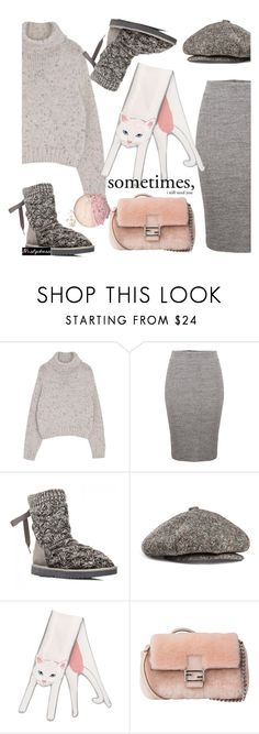 """""""soft"""" by paculi ❤ liked on Polyvore featuring Acne Studios, Cléo Ferin Mercury, Fendi and nastydress"""