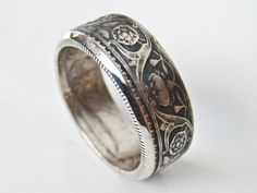 1936 Silver British India Half Rupee Coin Ring. George V Design. Two sided.  Hand made by me. Osheacoinrings.com How To Make Rings, Jewelery, Men's Jewelry, Coin Ring, Girly Things, Diy And Crafts, Ring Making, Rings For Men, Bling