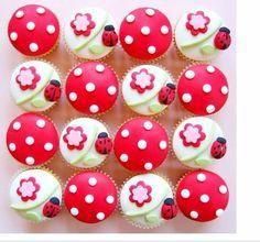 ladybug cupcake idea: Ladybug Valentine Tea Party