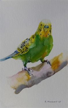 "Daily Paintworks - ""budgie10"" - Original Fine Art for Sale - © Katya Minkina"