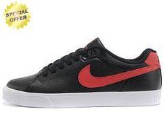 Nike Court Tour 1972 Low Black   Red   White 505801-322 Mens e667b354ba0